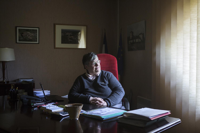 Belin-Beliet, le 15 mai 2017. Marie-Christine Lemonnier maire de Belin-Beliet (Divers droite). Elle est actuellement dans son second mandat.