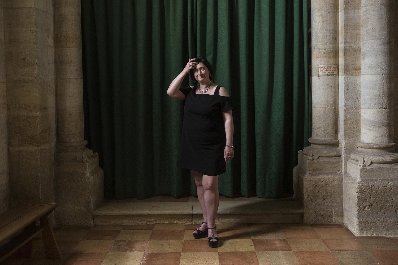 Belin-Beliet, le 15 mai 2017. Sophie Rivière-Durivault, candidate FN aux législatives dans la 9e circonscription de Gironde.