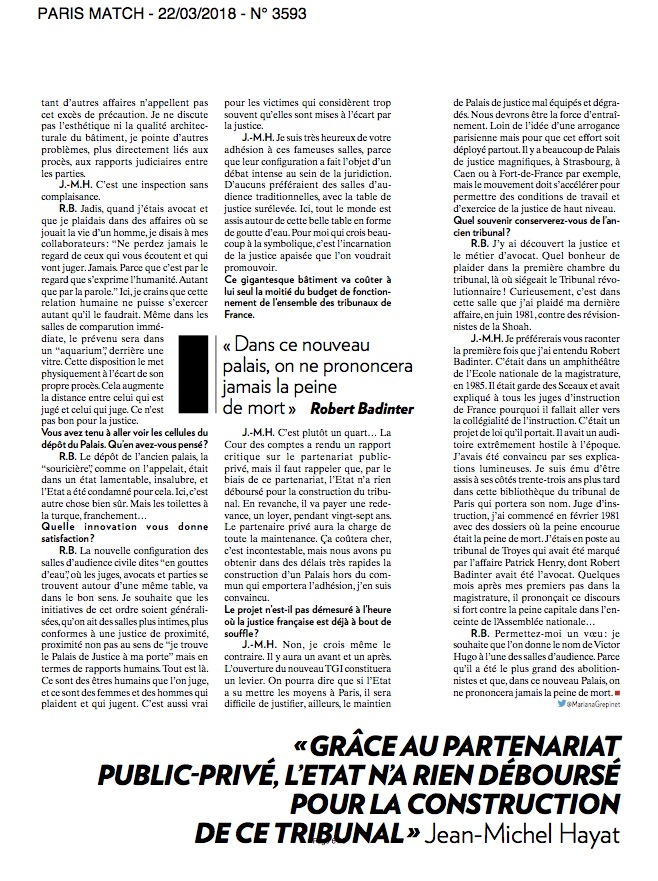 Paris Match / Cyril Marcilhacy / Mars 2018