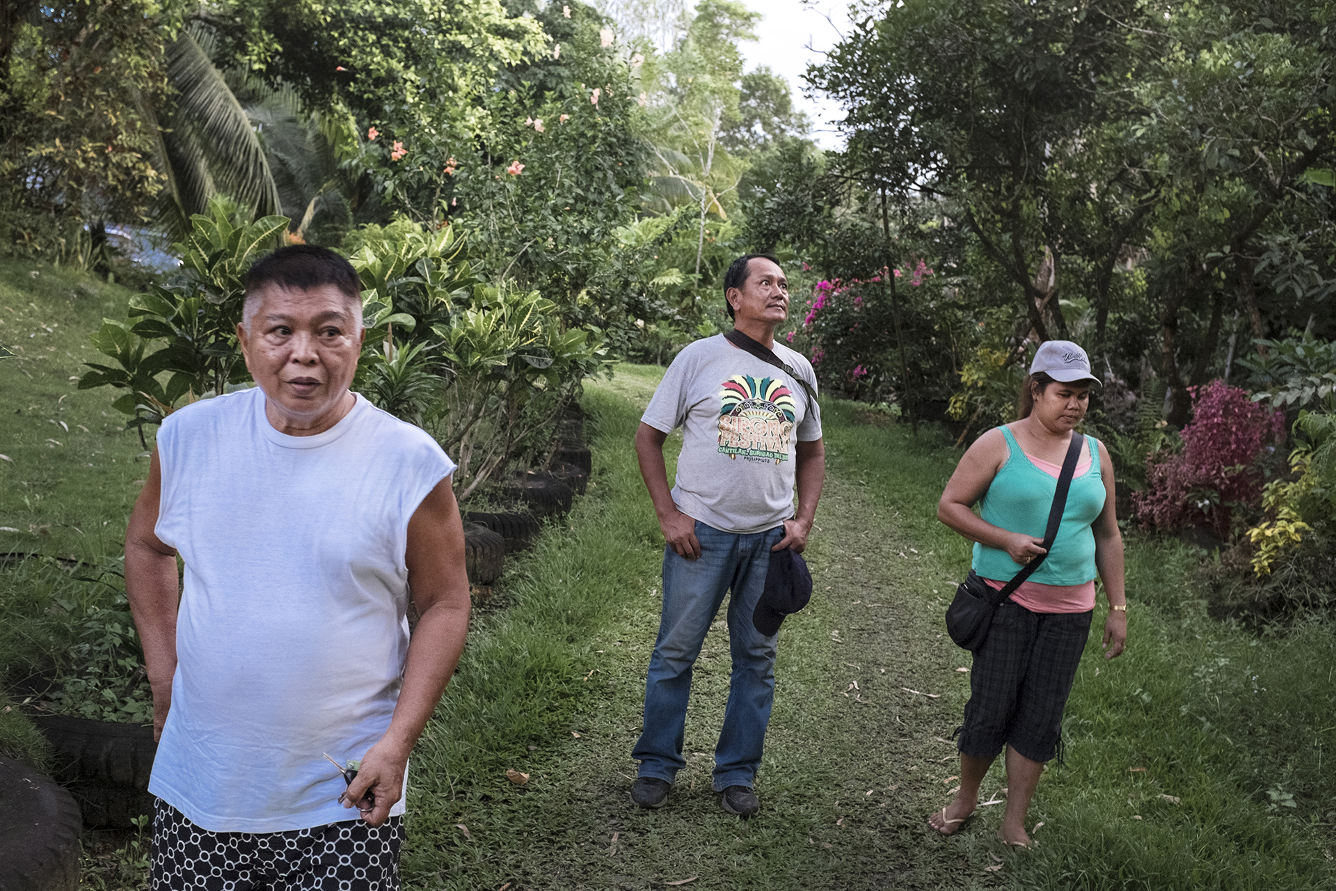 Chito Trillanes' in the middle is strongly oposed the construction of new mines and this year he is presenting himself in the local elections as an ecologist and activist .Surigao del Sur, Mindanao, Philippines, 04.2016