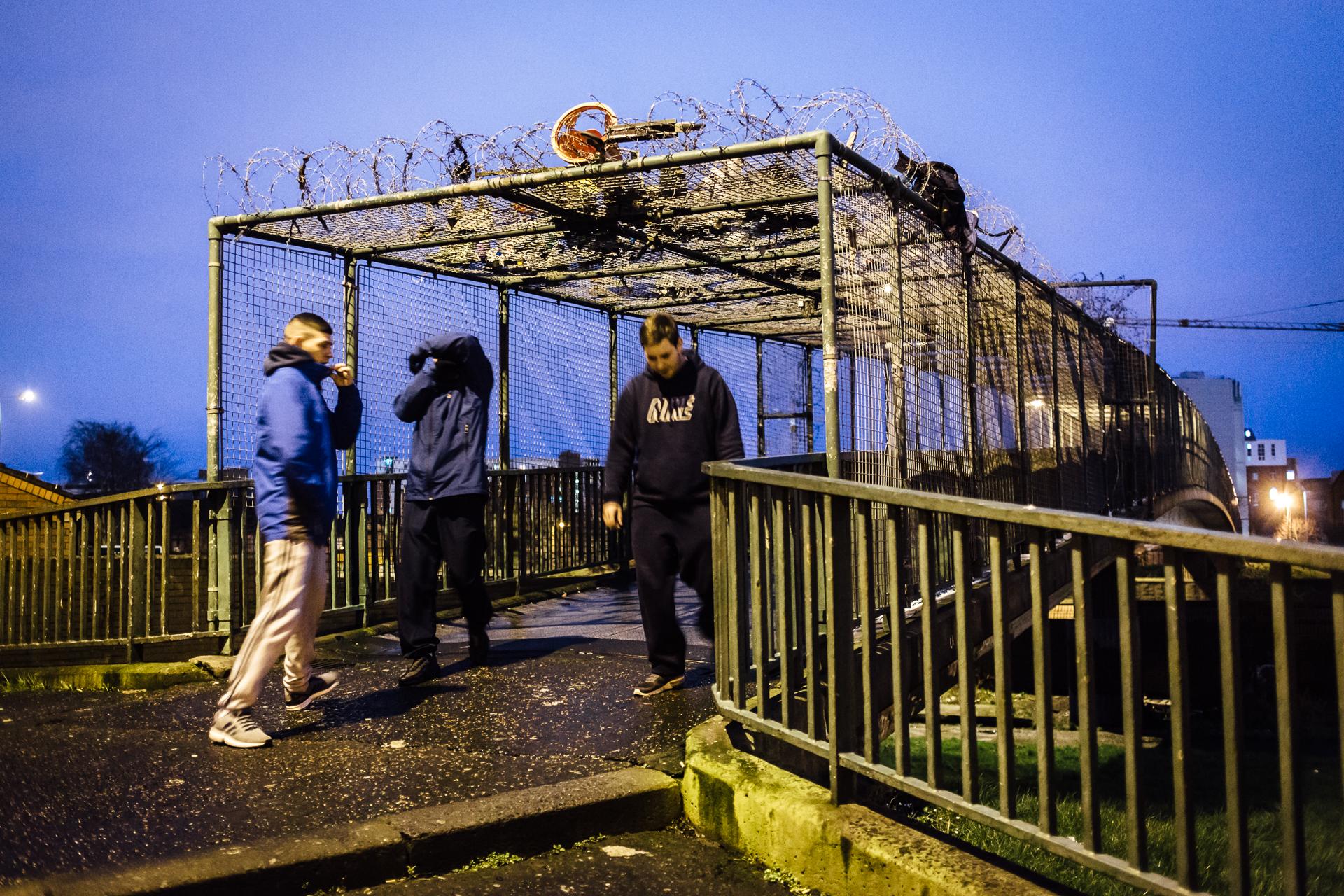 Belfast, le 24 février 2017. Dans le quartier défavorisé de Divis Tower, zone principalement catholique pro-IRA.