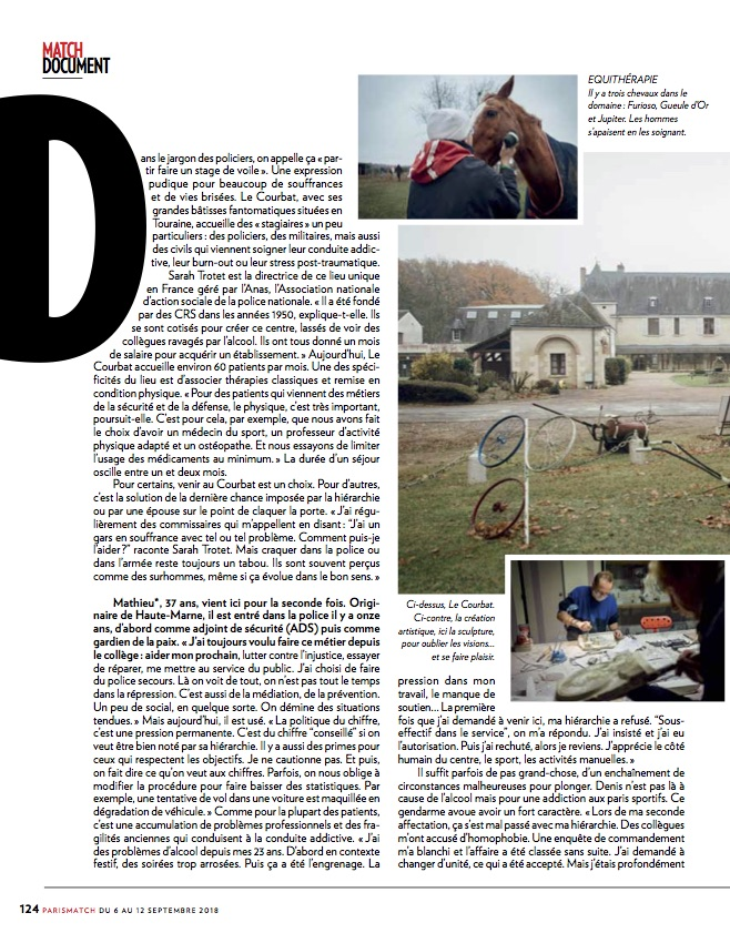 Paris Match / Cyril Marcilhacy / Septembre 2018