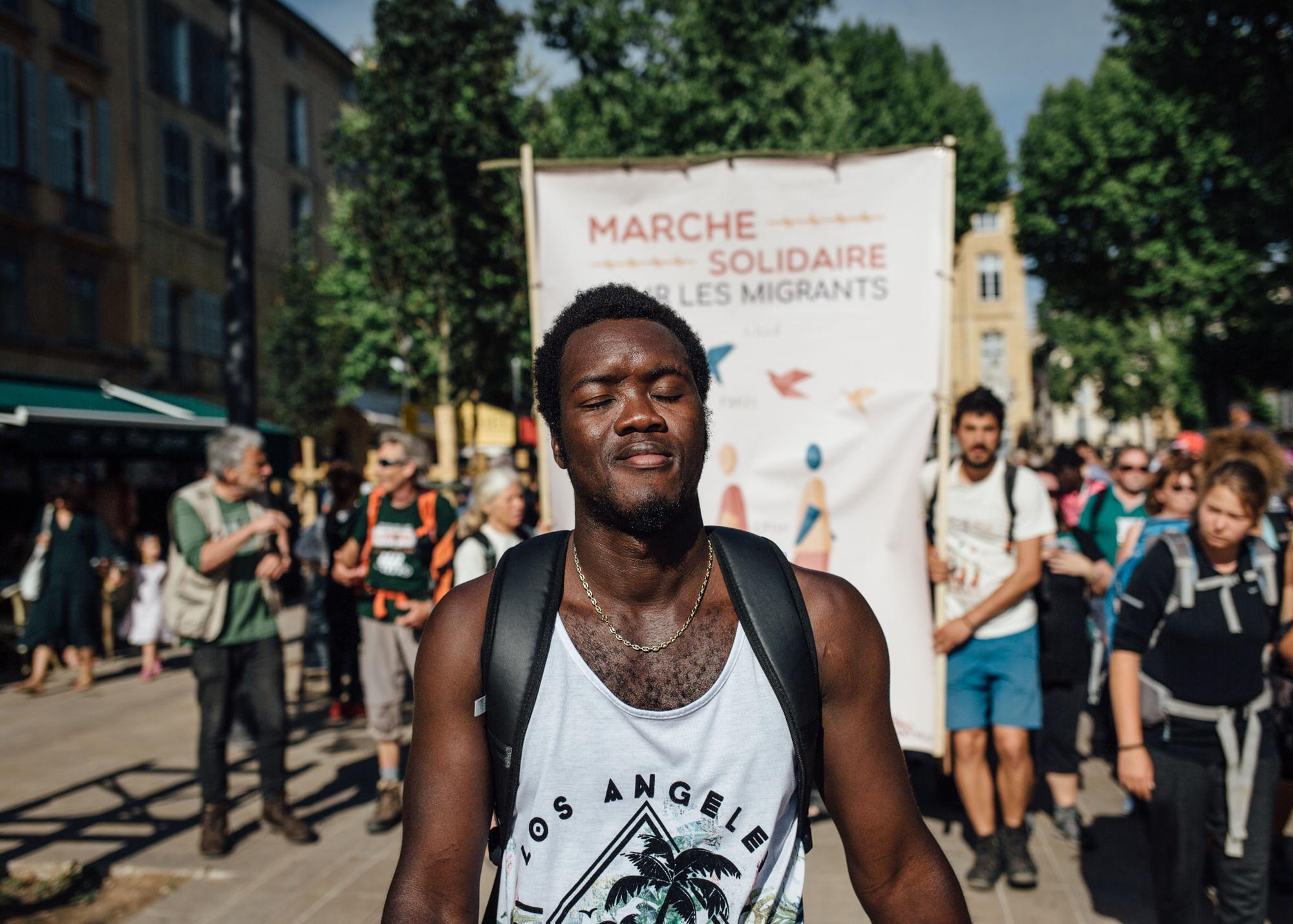 yaya, migrant Guinéen, hébergé par Thierry à ? à côté de saint maximin