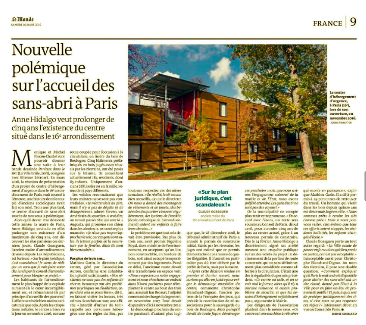 Le Monde / Jeanne Frank