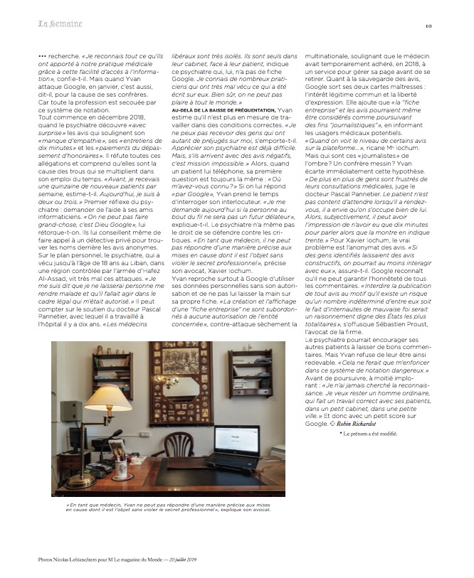 M le Magazine du Monde / Nicolas Leblanc / Juillet 2019