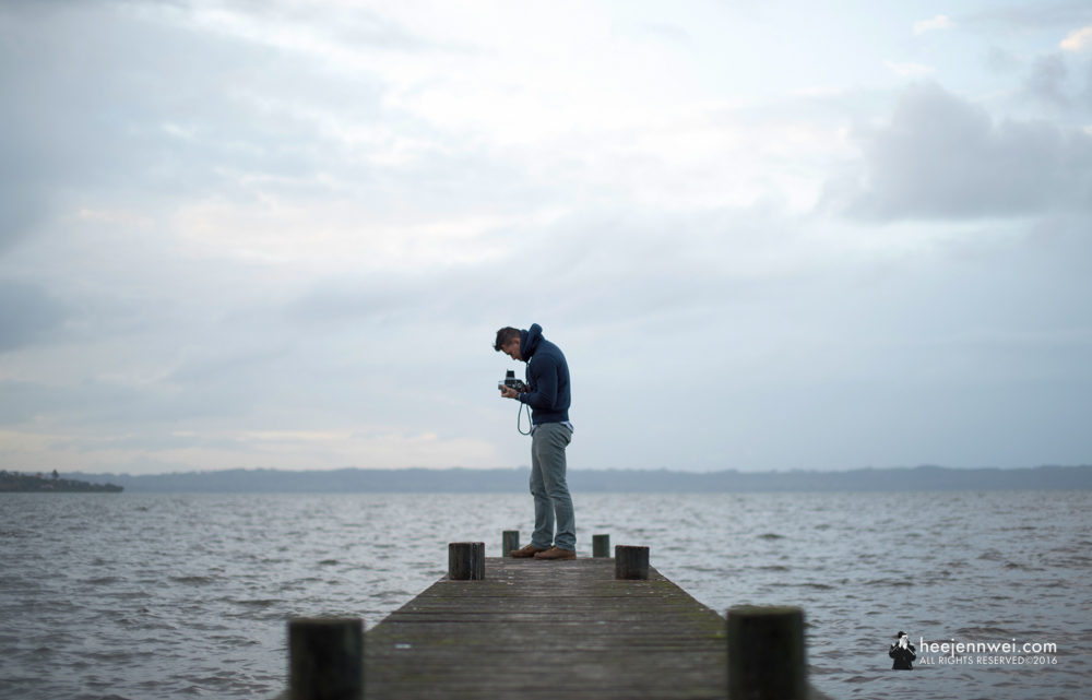 Photographing Lake Rotorua. Rule of third, break the rule.