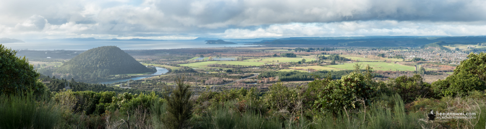 Lookout Point at Tongariro National Park, GND filter used to create the dramatic colour from the dull sky.