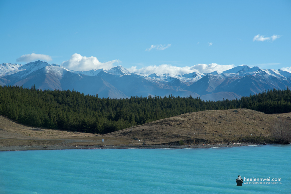Lake Pukaki, an hour away from Lake Tekapo.