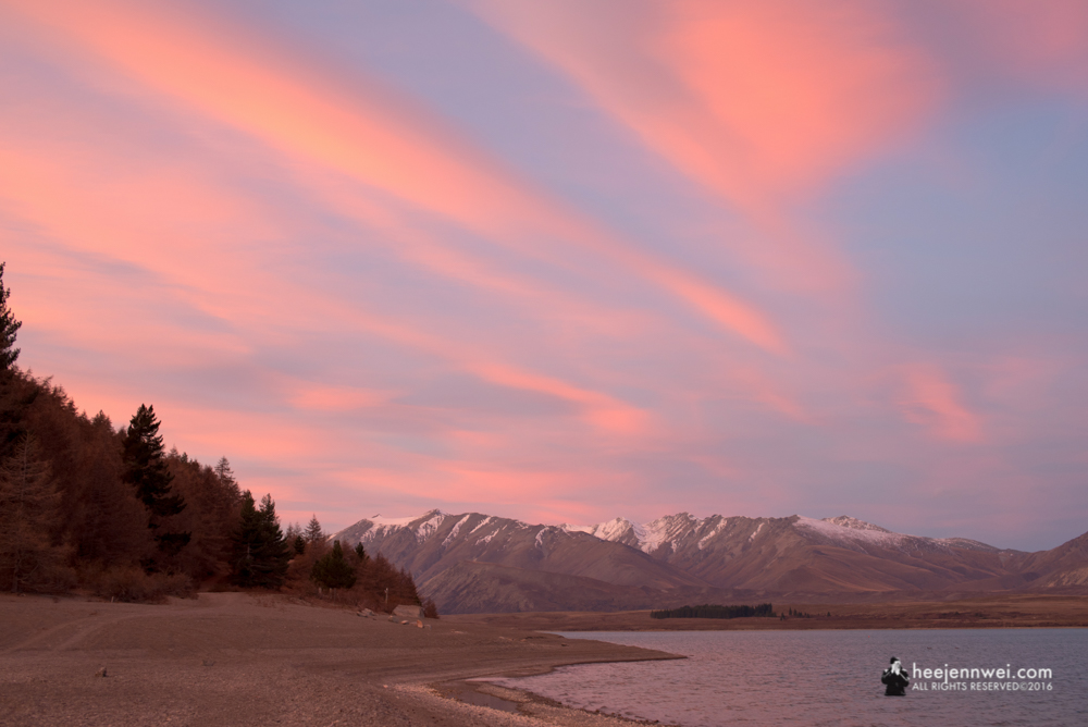 Sunset at Lake Tekapo.