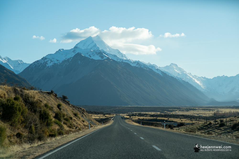 Towards the Aoraki Mount Cook.