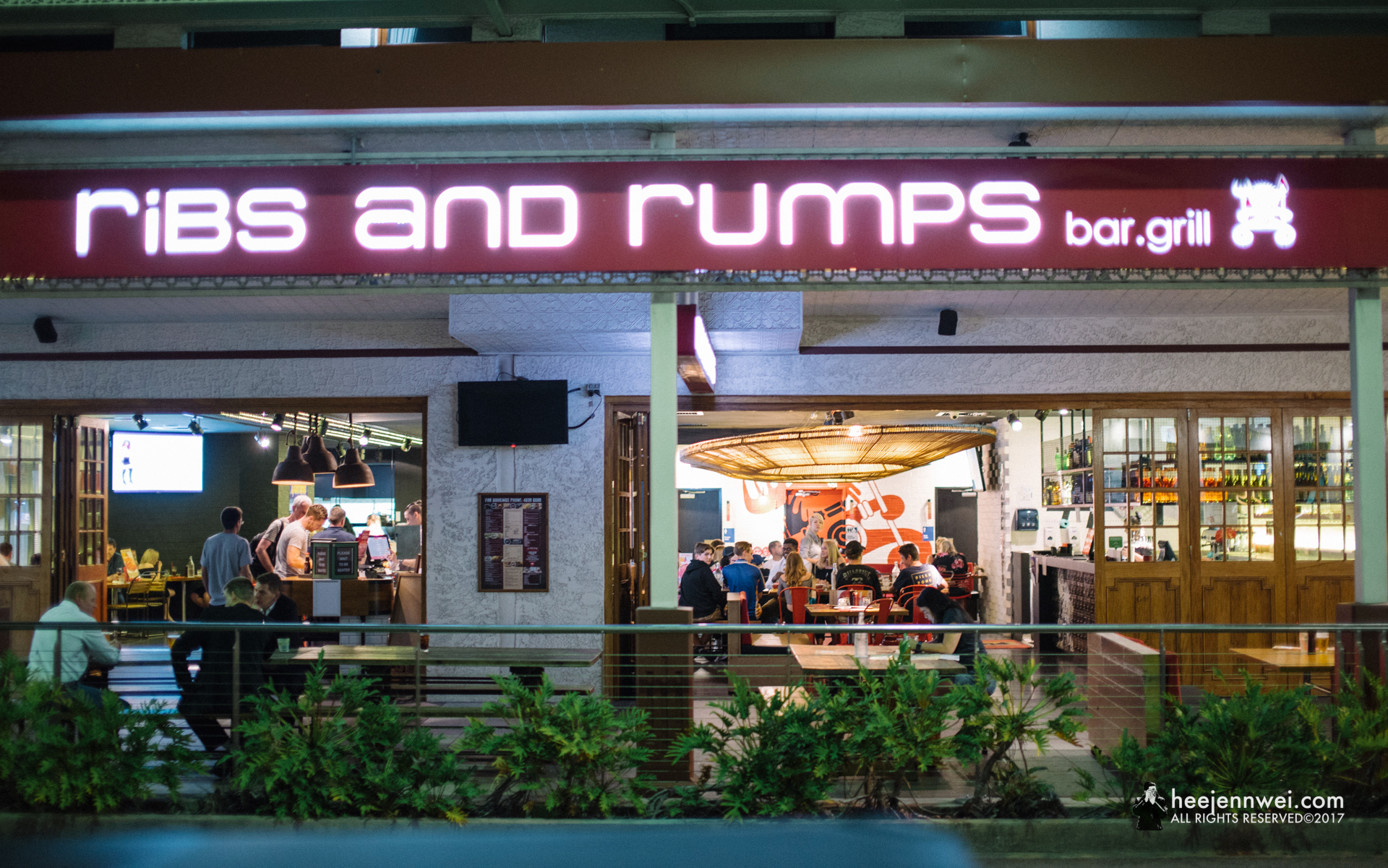 Had our dinner at Ribs and Rumps!