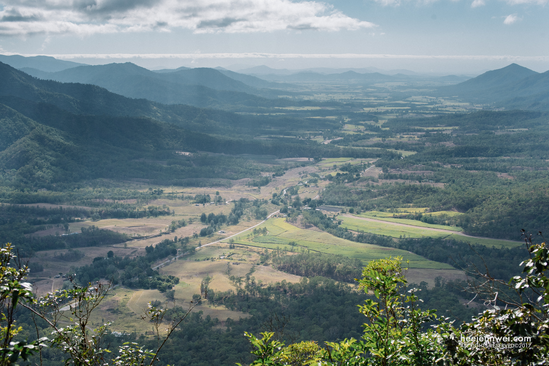 """The view of Pioneer Valley! Eungella National Park.  Sunrise at Cape Hillsborough is around 5.15am (double check sunrise time), i'd suggest to leave the national park before 6.45am if possible. Start your journey to Eungella National Park (look up for """"Platypus Lodge Restaurant""""), it'll take 1.5 hrs, get there before 8.30am will be ideal. This is because Platypus' active time is from 7am to 9am, and you don't want to miss that."""