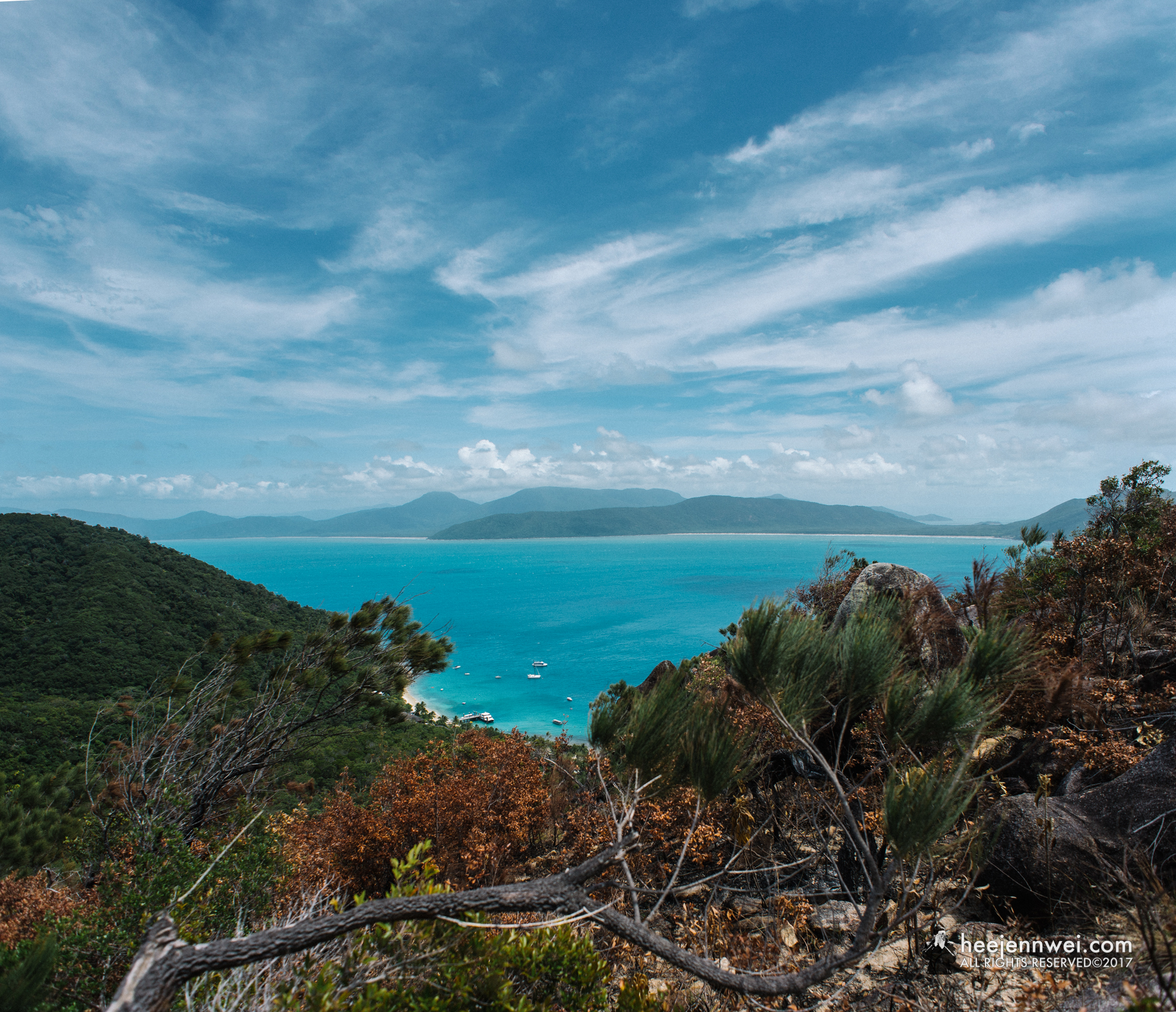 Breathtaking view from Fitzroy Island's summit.