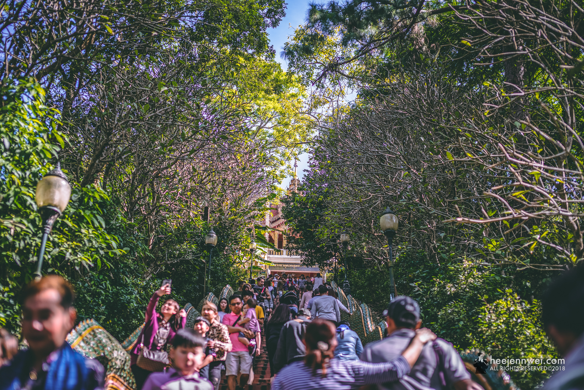 309 steps to the pagodas.