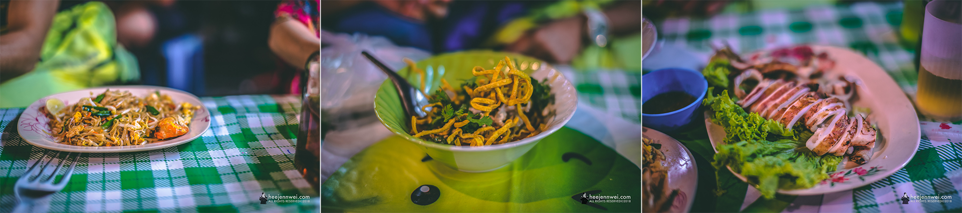 Pad Thai is good, Khao Soi noodle is just so-so and grilled squid is amazing!