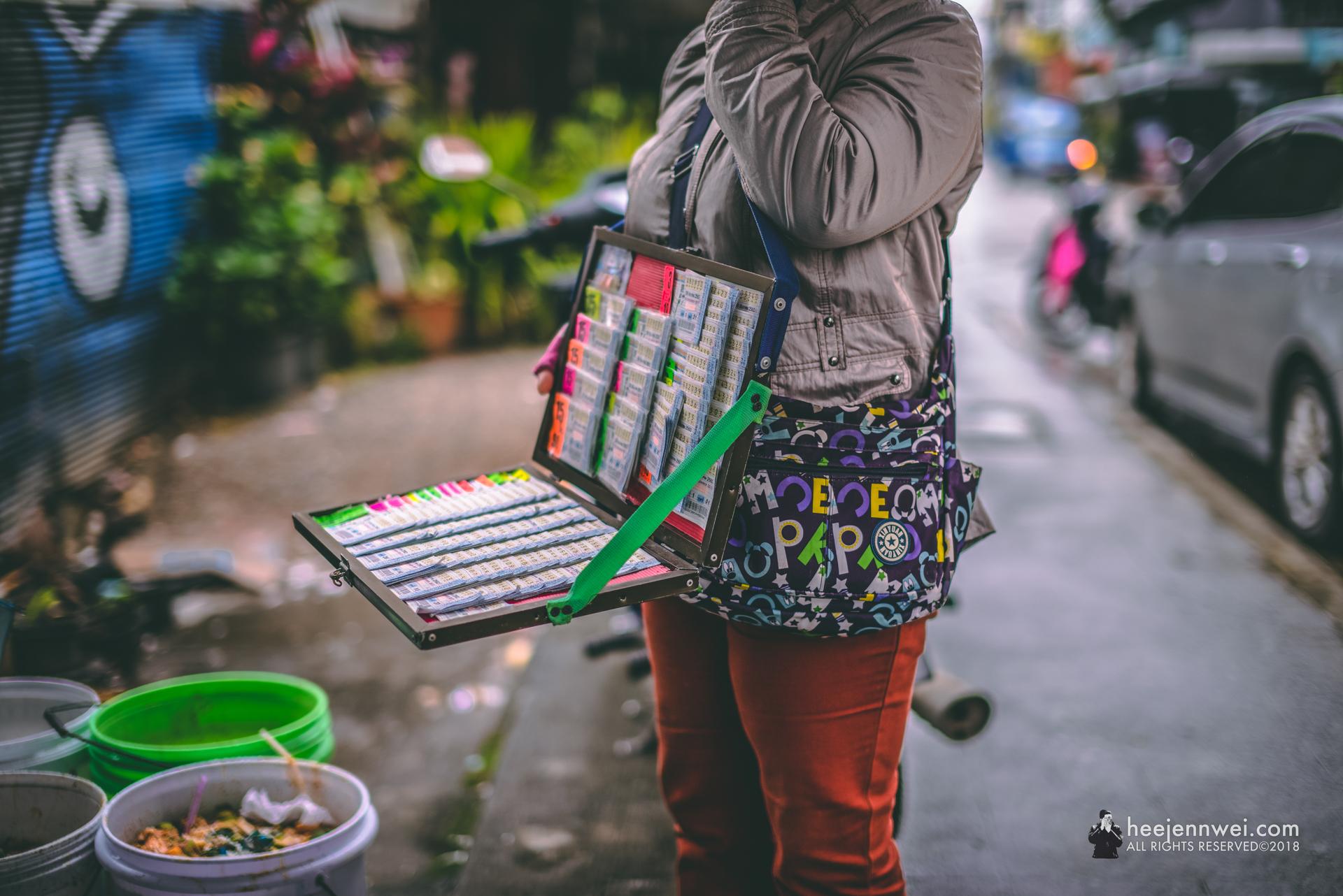 State Lottery seller at Chiang Rai.