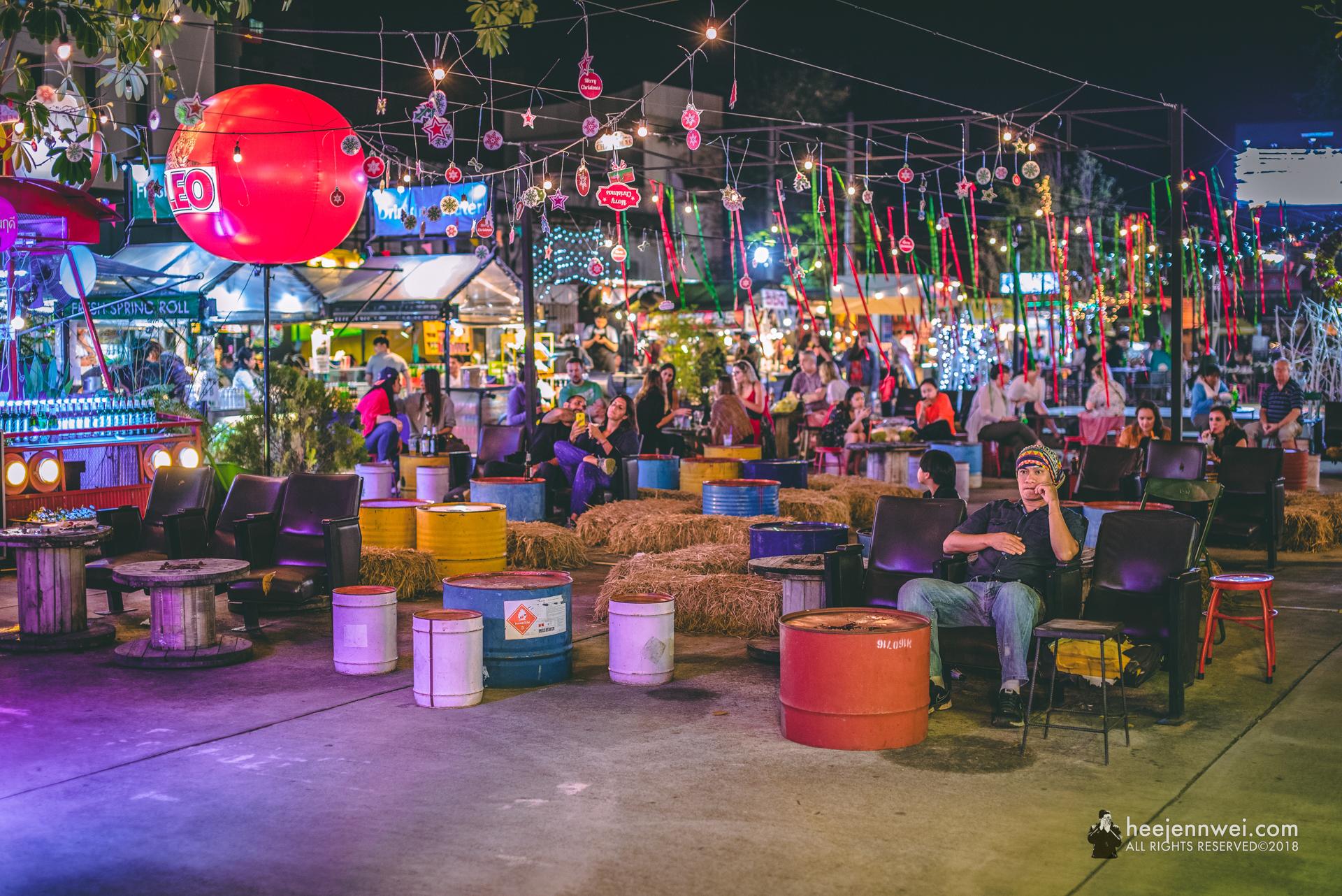 At the Chiang Mai Night Bazaar.