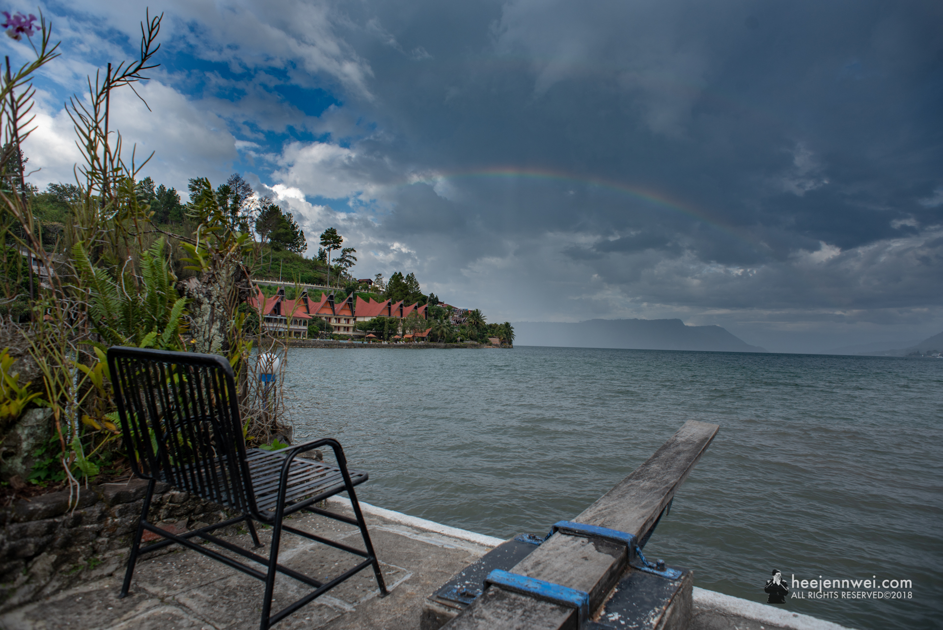 An invite into the Lake Toba, dock from Horas Family Home.