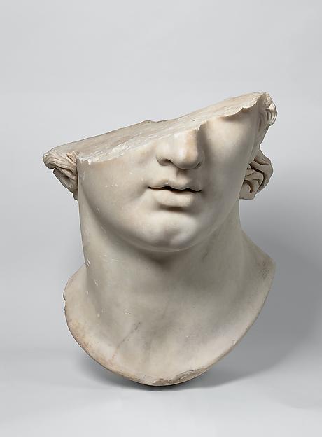 Fragmentary colossal head of a youth, Antikensammlung, Staatliche Museen zu Berlin