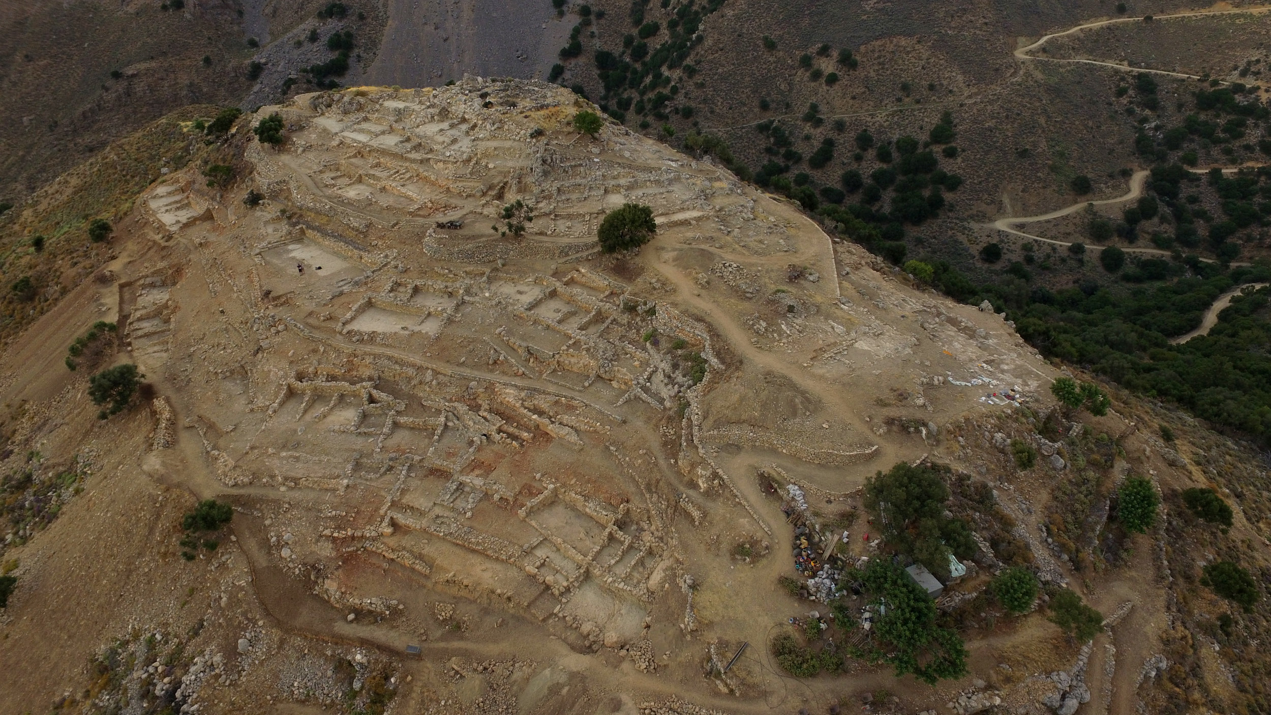Azoria, Aerial View of South Acropolis, 2017