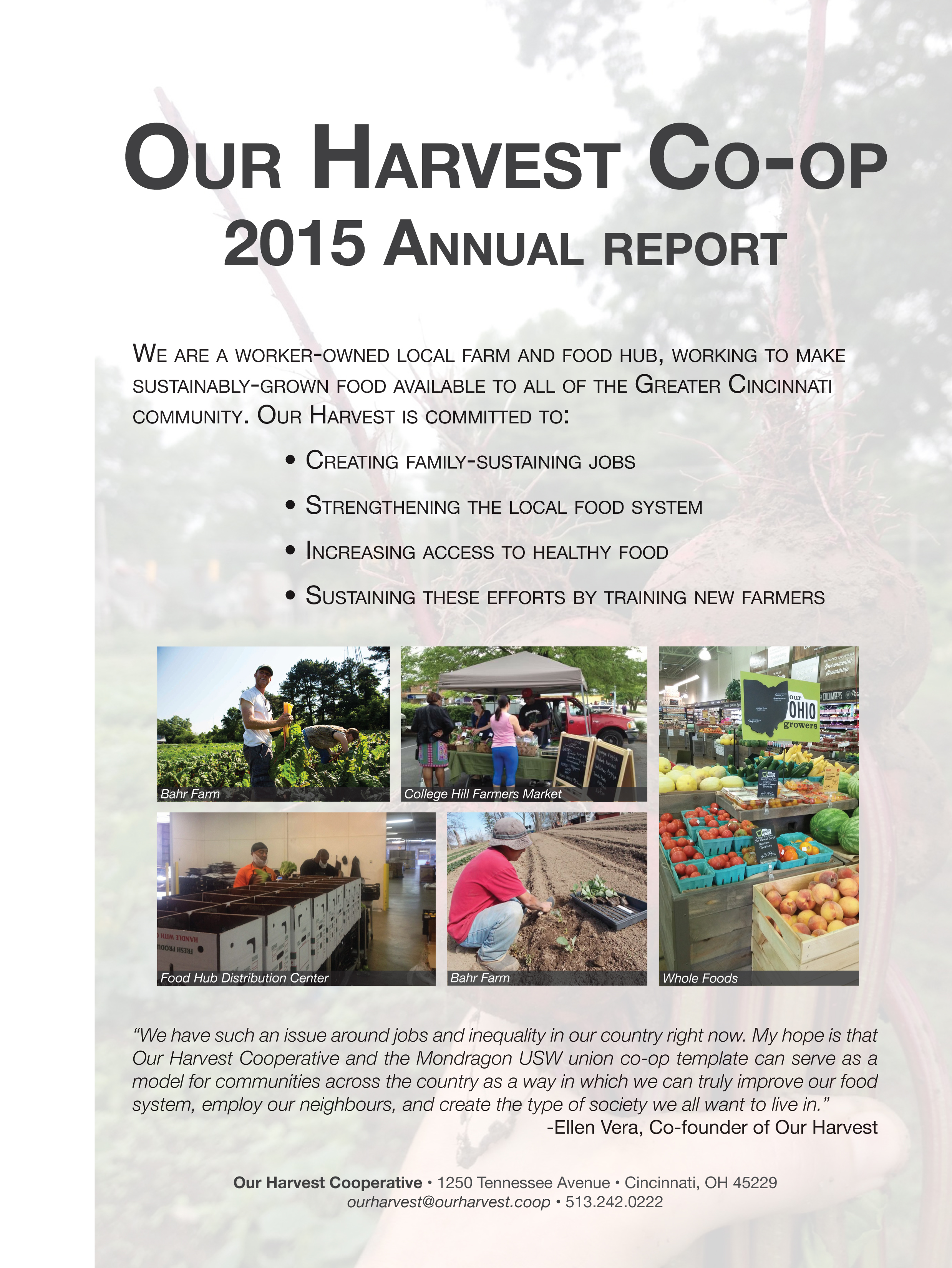 Copy of 2015 Our Harvest Annual Report
