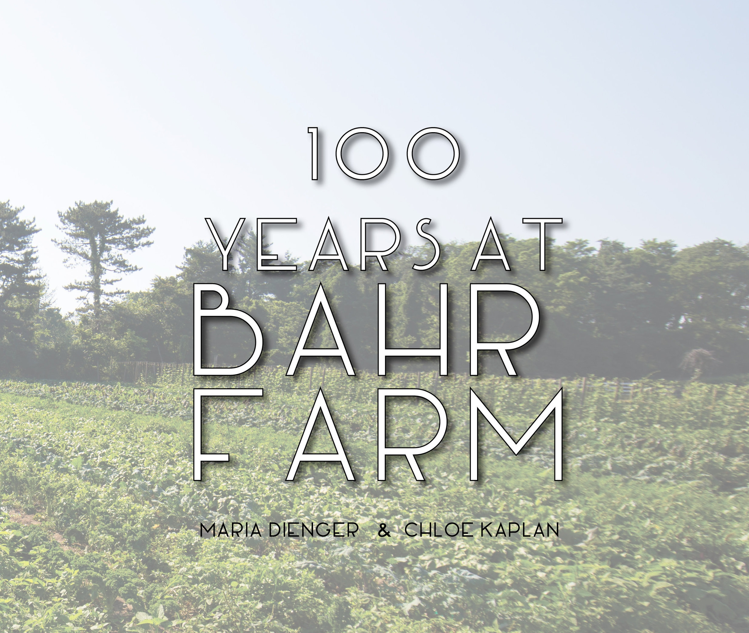 Copy of 100 Years at Bahr Farm book
