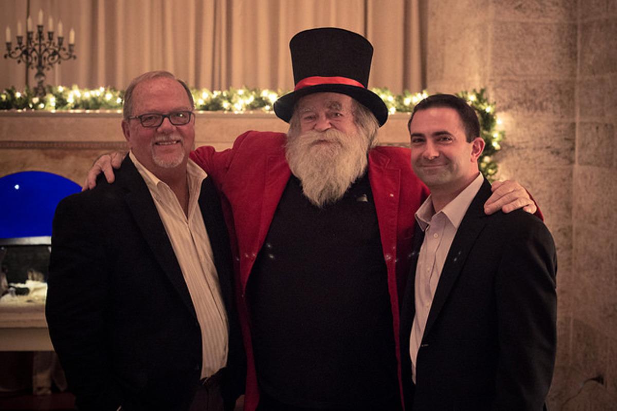 """L-R: Michael Stumpf, Jim """"Santa Jr."""" Morrison, A.J. DiAntonio. Credt: Kyle Genzlinger for Glencairn Museum (2015)."""