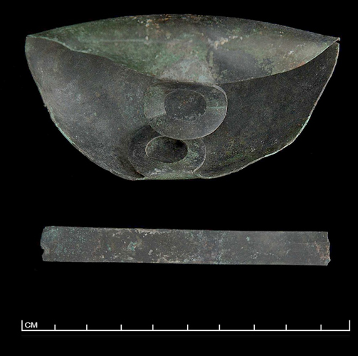 Figure 12a: Miniature tripod cauldron from the Sanctuary of Zeus, Mt. Lykaion. MTL 178. Photograph courtesy of the Mt. Lykaion Excavation and Survey Project and David Gilman Romano, University of Arizona.