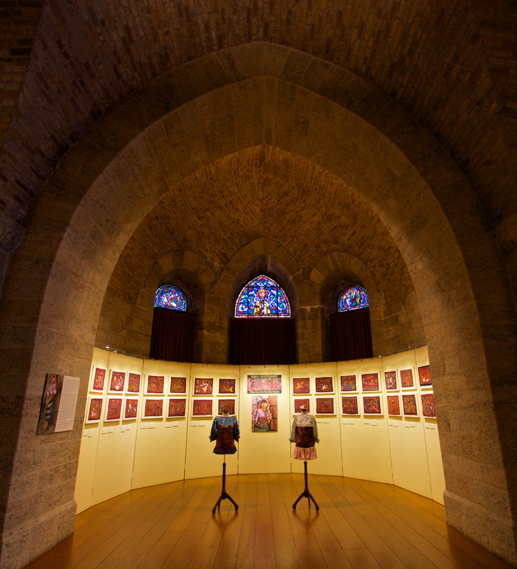 View of the exhibition  Eden to Eternity: Molas from the San Blas Islands .