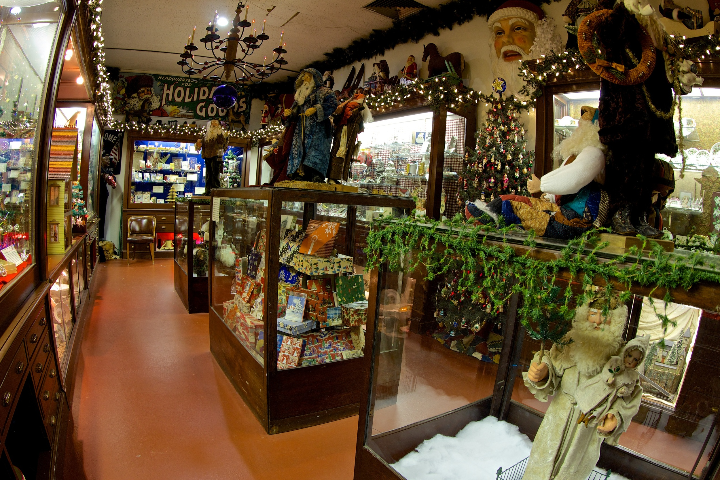Figure 5: The  Antique Emporium is a changing exhibition of Christmases past, in a setting resembling a store from the 1890s.
