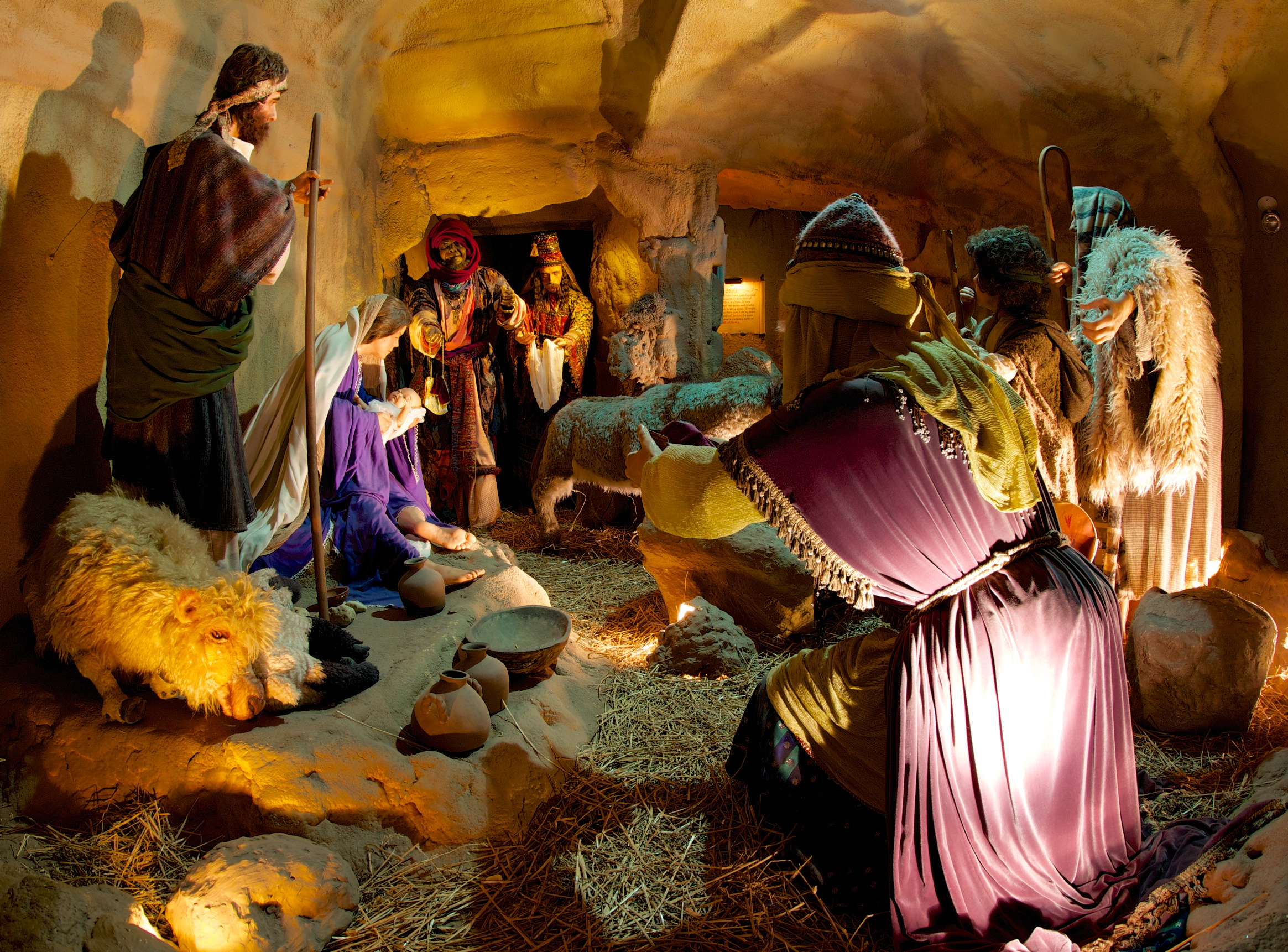 Figure 12: The First Christmas , the last exhibit experienced by visitors to the National Christmas Center, is a walk-through recreation of the sights and sounds of the Holy Land at the time of the birth of Christ.