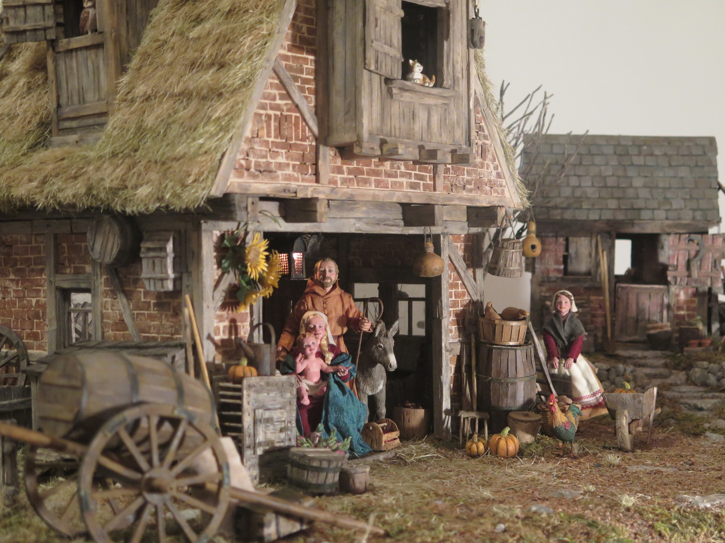 A 16th-Century-style Flemish Nativity created by R. Michael Palan and Karen Loccisano.