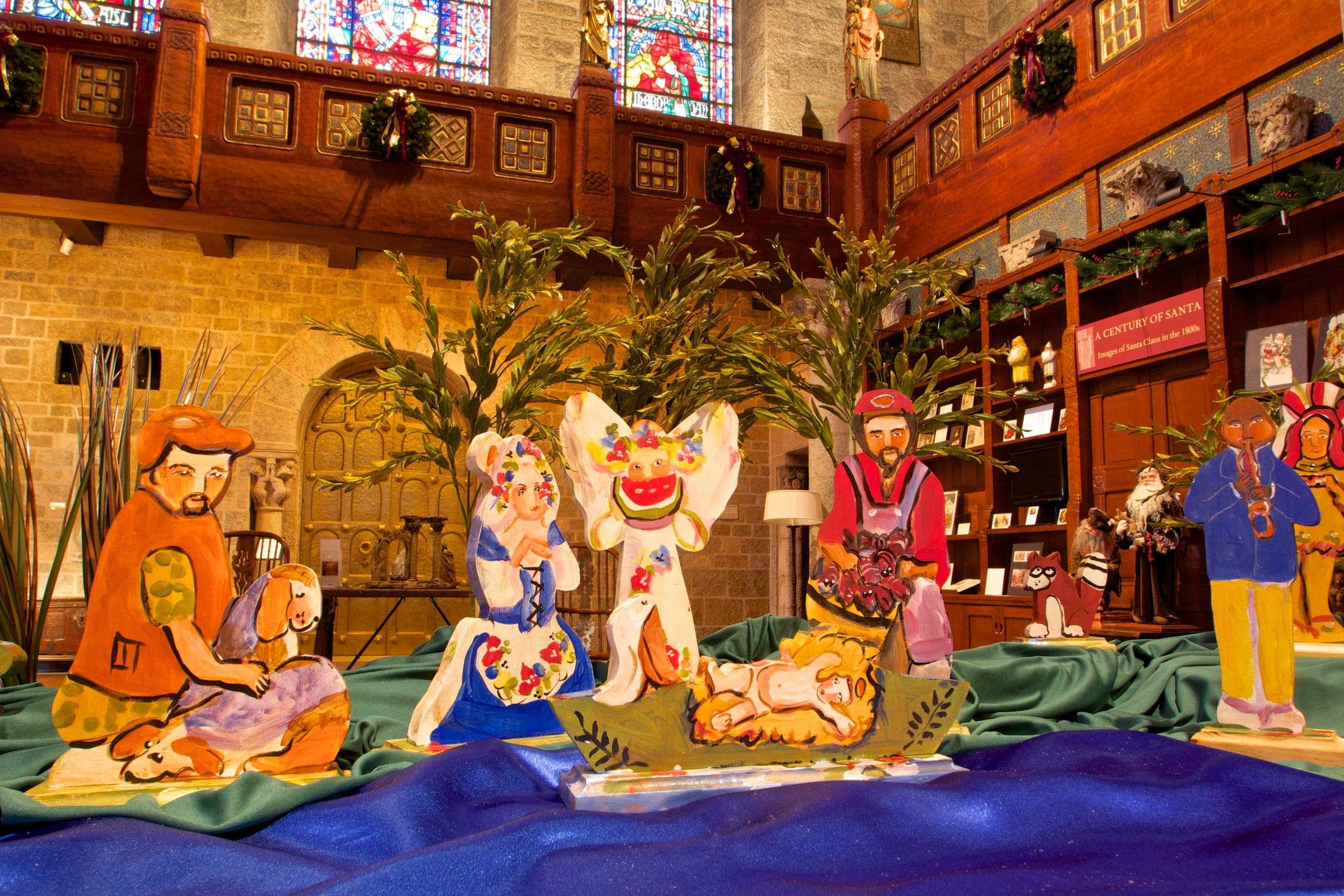"Figure 9: This Cajun Nativity was made by Lorraine Gendron, a self-taught folk artist who lives in the small Mississippi River town of Hahnville, Louisiana. Lorraine, who has been called ""the Louisiana people's artist,"" first gained national attention in the 1980s for her Mississippi Mud dolls. Her art is now in many museums and private collections."