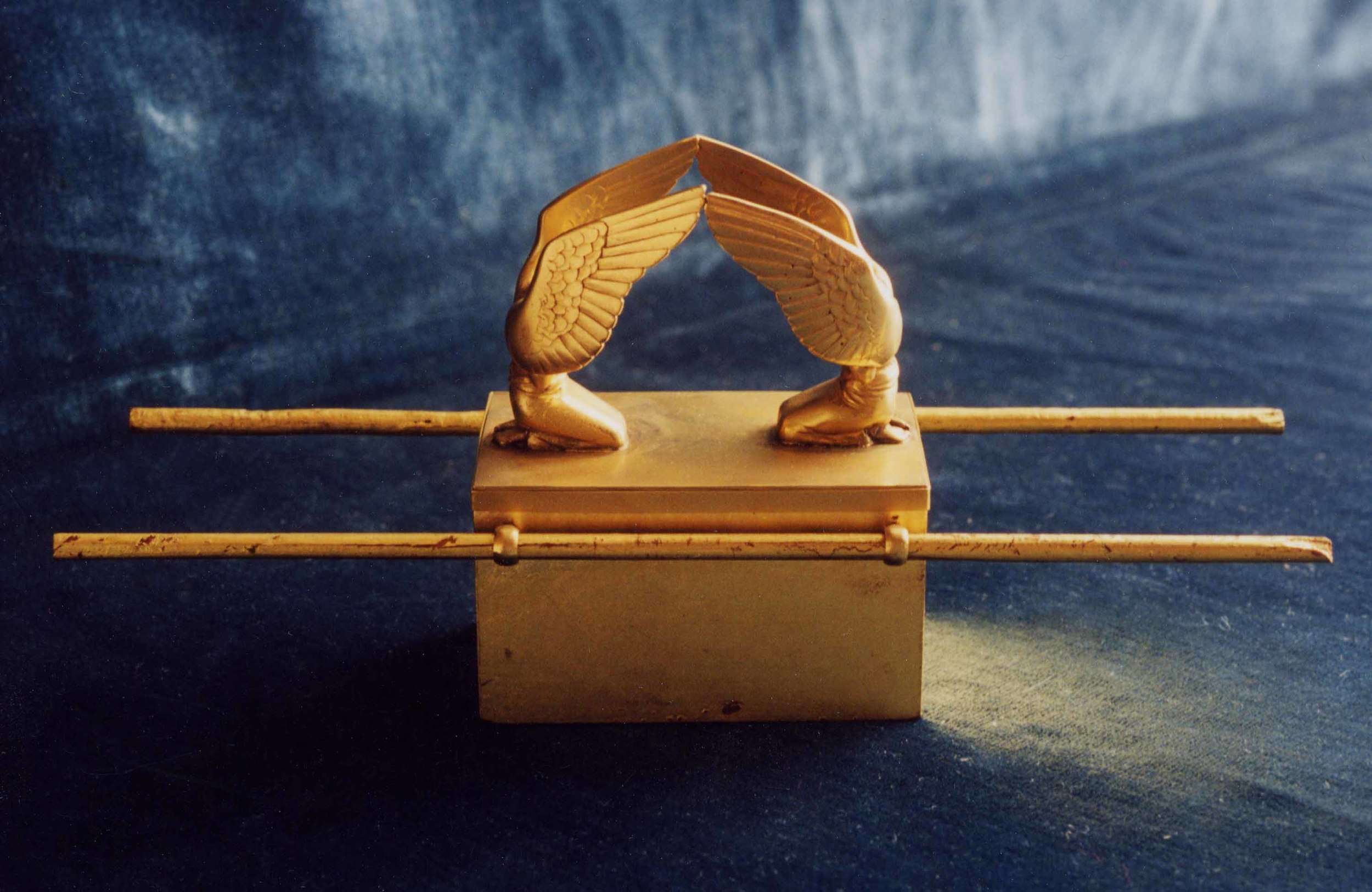 Scale model of the Ark of the Covenant in the Ancient Near East gallery.