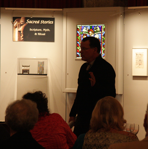 """Dr. Michael Cothren Speaking at the Members Only Event for """"Sacred Stories"""""""