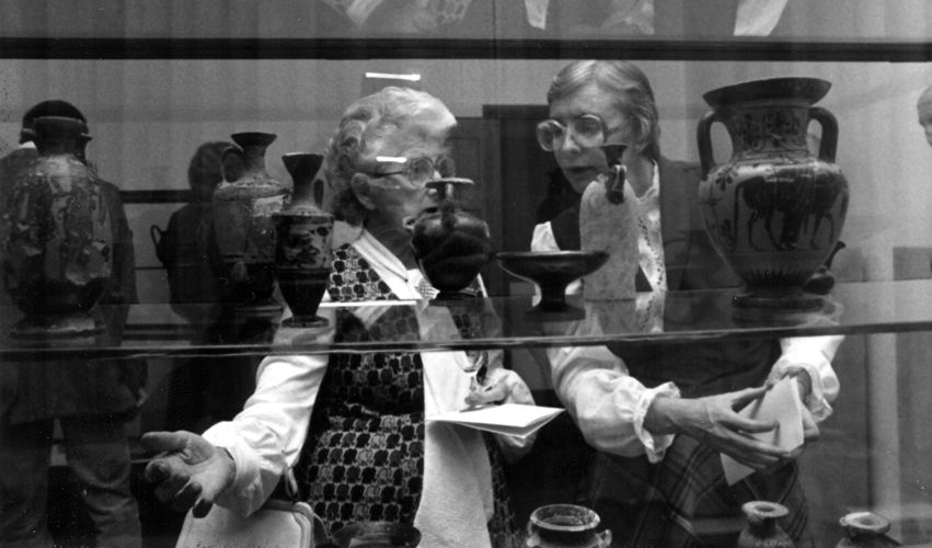 Margaret Wilde and Judith Smith Attend the Opening of Glencairn Museum in 1982