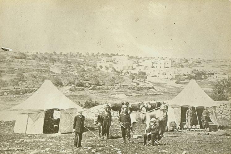 William Henry Benade and John Pitcairn near the Jaffa Gate, Jerusalem, 1878