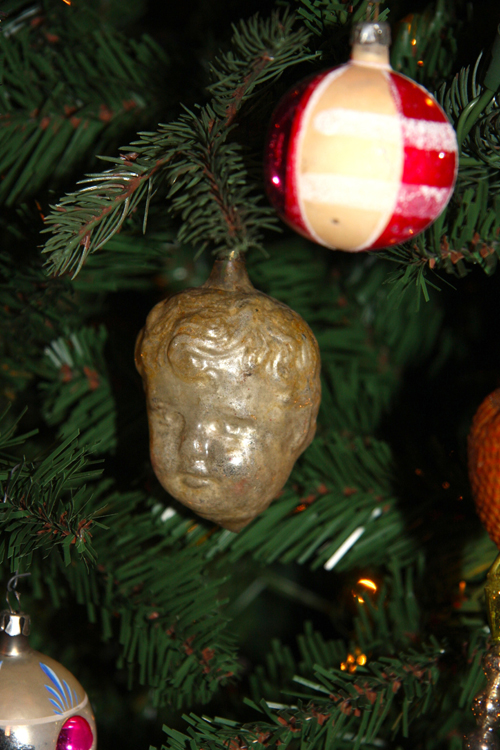 Antique Ornament with Child's Face