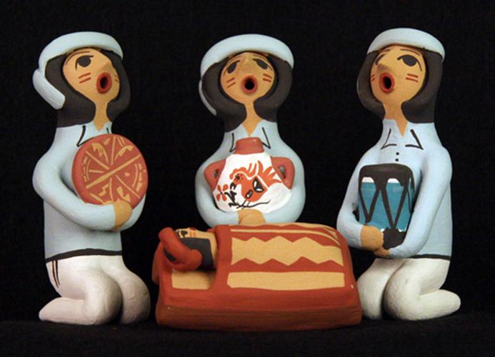 Wise Men from Jemez Pueblo Nativity Set