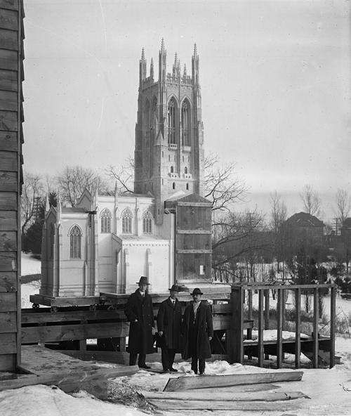 Scale model of Bryn Athyn Cathedral on Rails