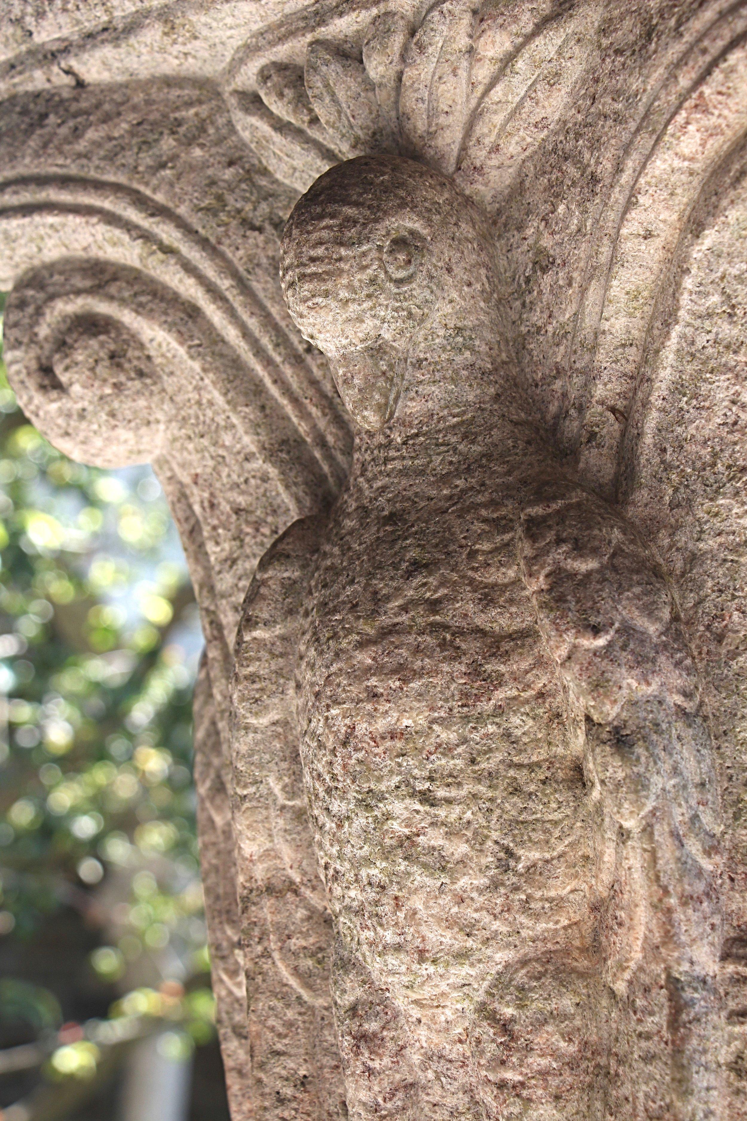Figure 13: Cloister capital, east side: dove.