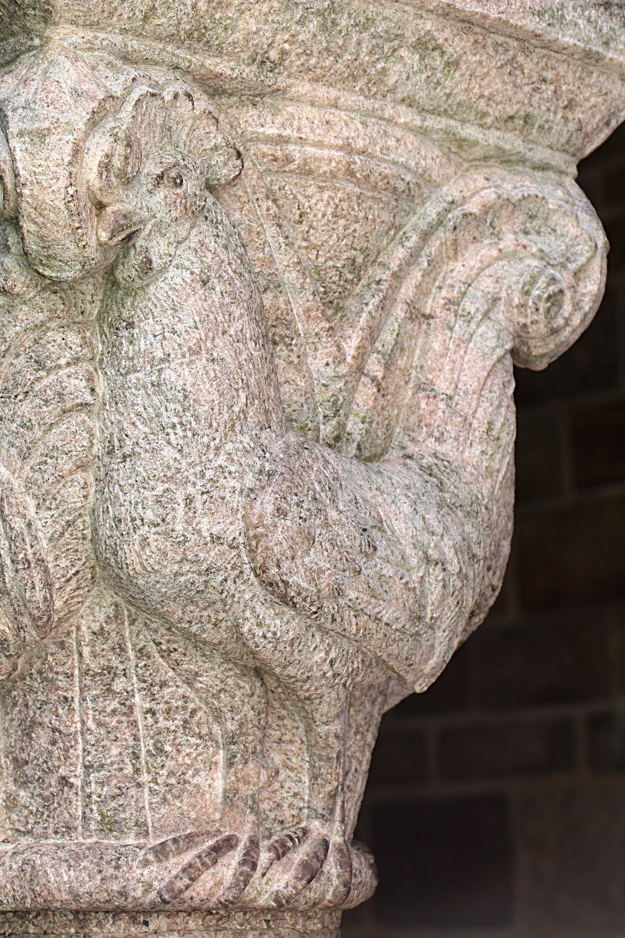 Figure 21: Cloister capital, north side: rooster.