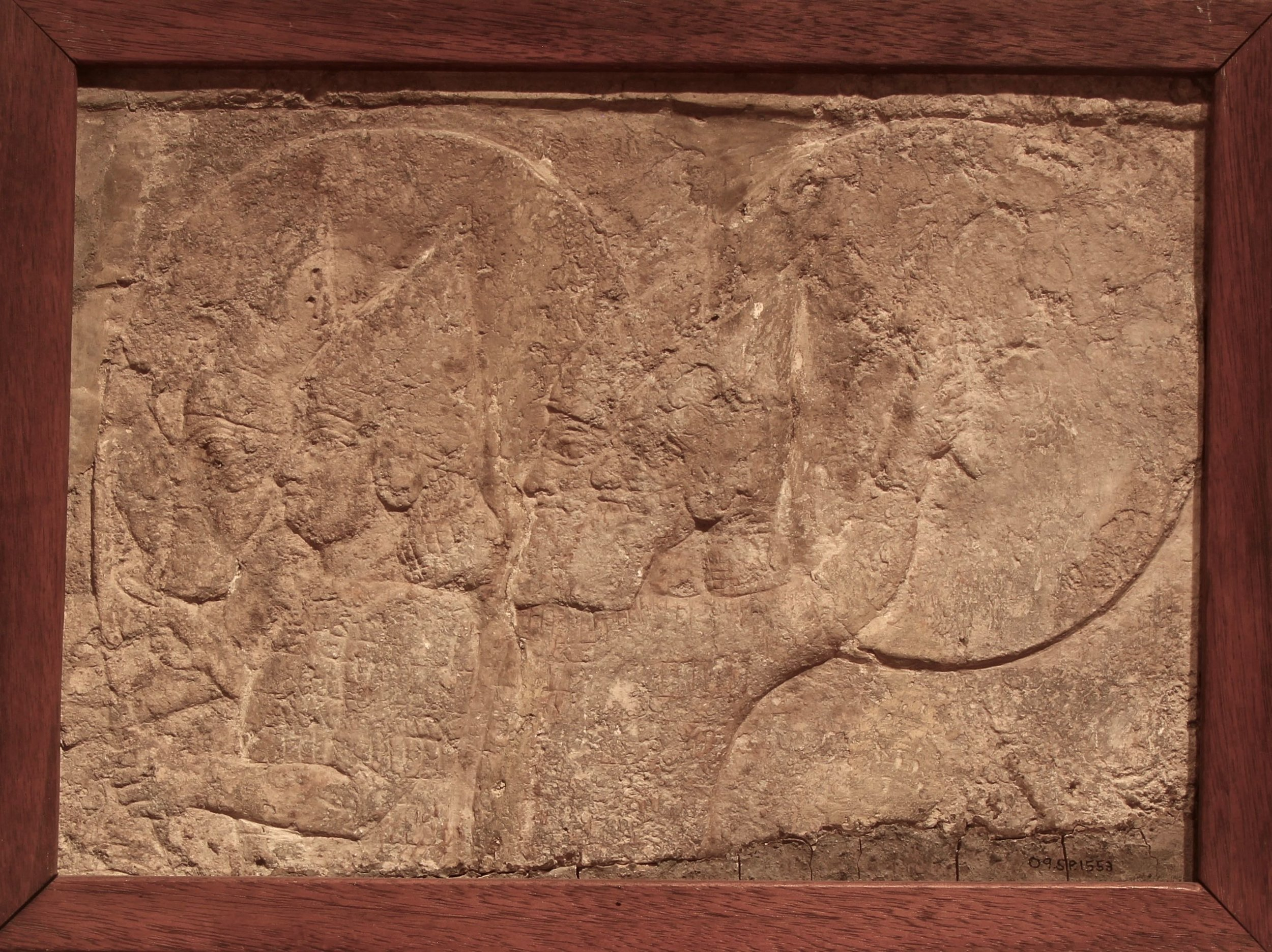 Figure 4: Assyrian soldiers in a chariot, North Palace of Ashurbanipal at Nineveh, Iraq. (09.SP.1553; 19 x 27 cm)