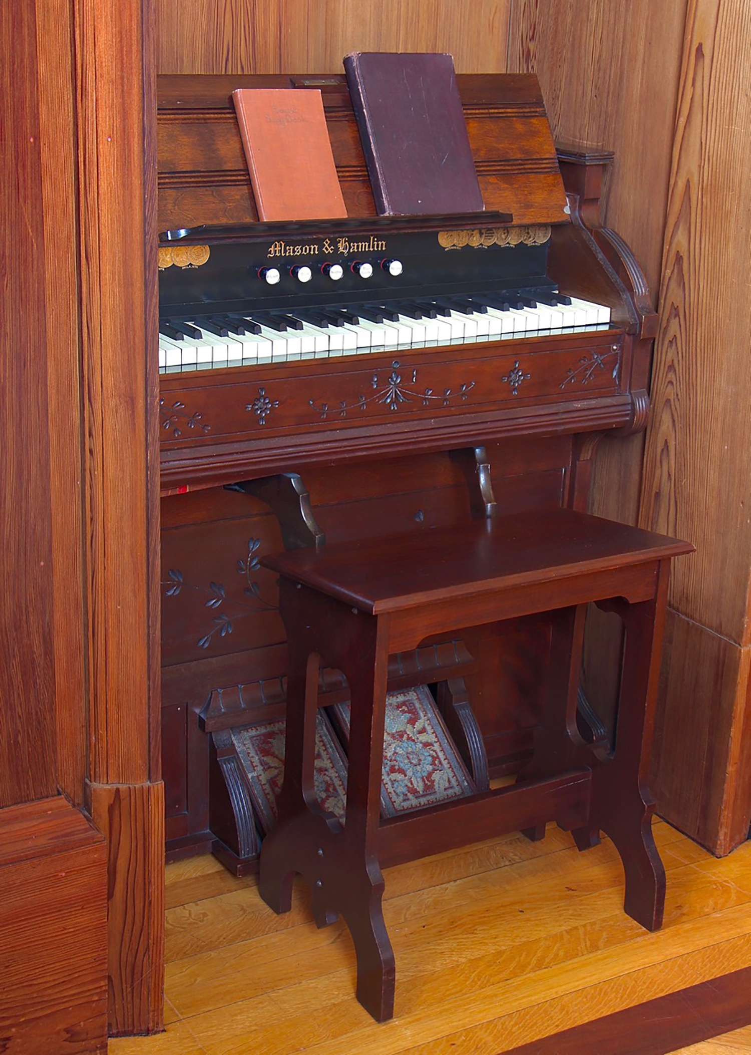 Figure 5: The chapel was designed with a special niche to accommodate the Mason & Hamlin reed organ.