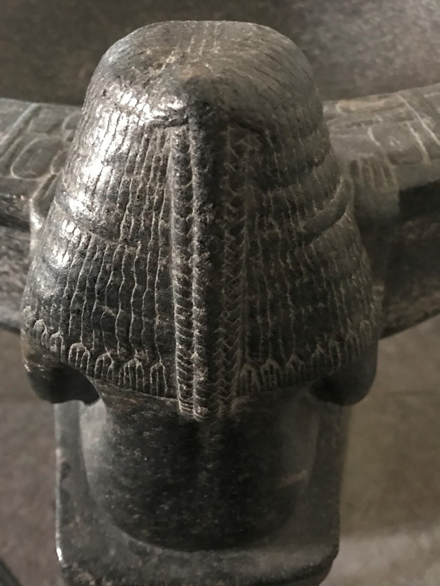 Figure 31: Lady Ruiu wears a distinctive wig. Here is a closeup of the triple braid that falls down the back of her head.