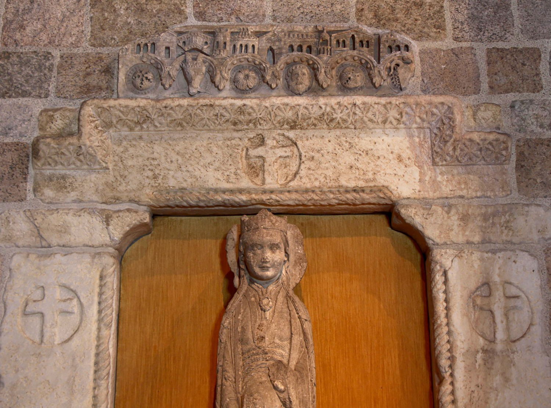 Figure 10a: Architectural frieze, Cluny, Burgundy, mid-12th century, limestone, Glencairn Museum.