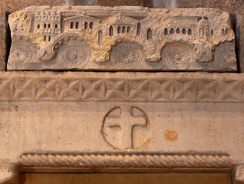 Figure 10b: Architectural frieze, Cluny, Burgundy, mid-12th century, limestone, Glencairn Museum.