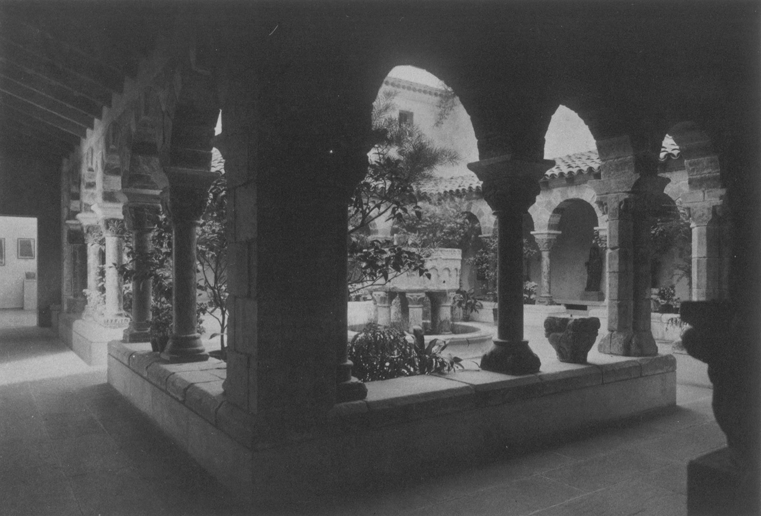 Figure 13: View of the Cloister from Saint Genis des Fontaines, March 1931, Philadelphia Museum of Art.