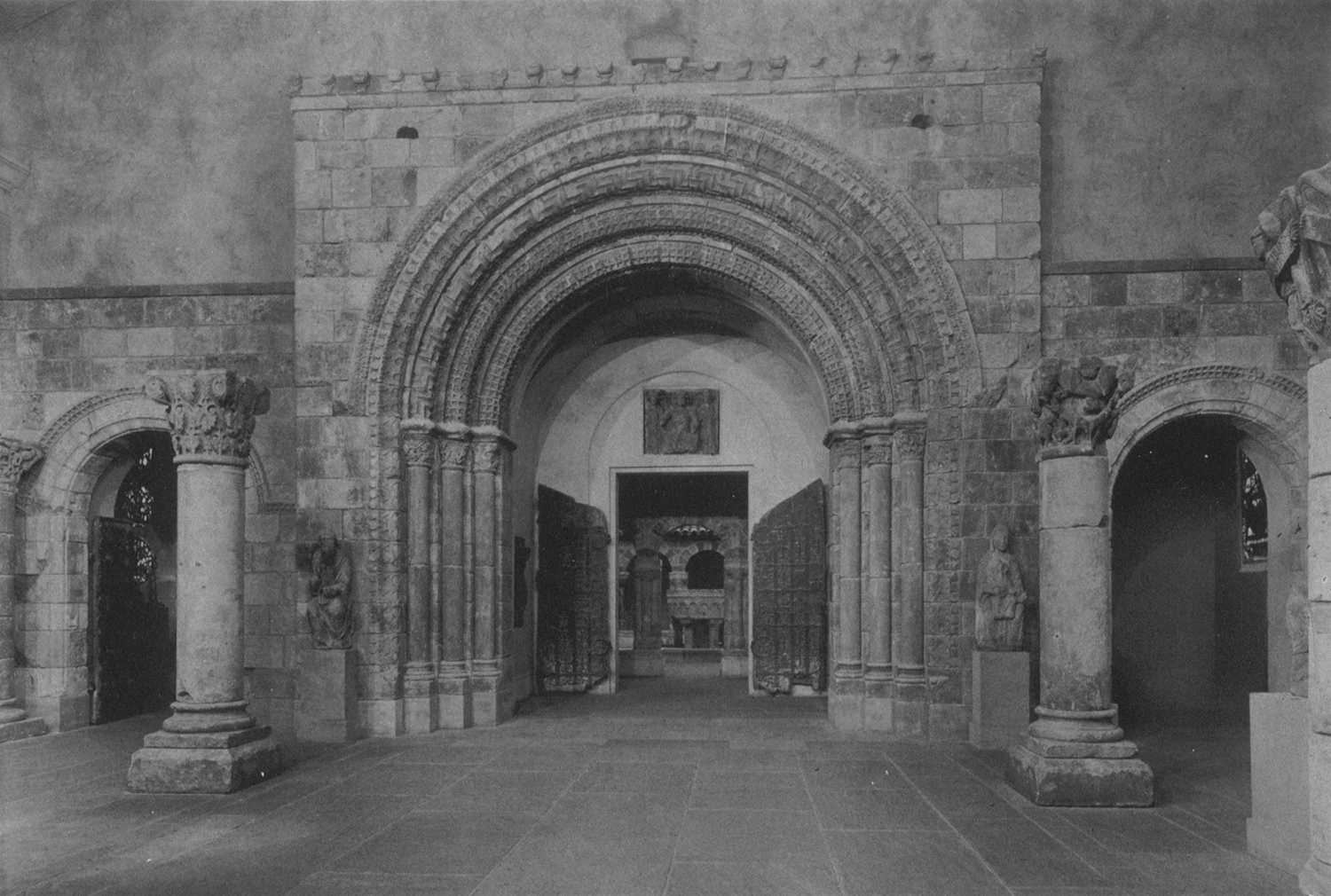 Figure 14: View of the Portal from St. Laurent l'Abbaye, March 1931, Philadelphia Museum of Art.