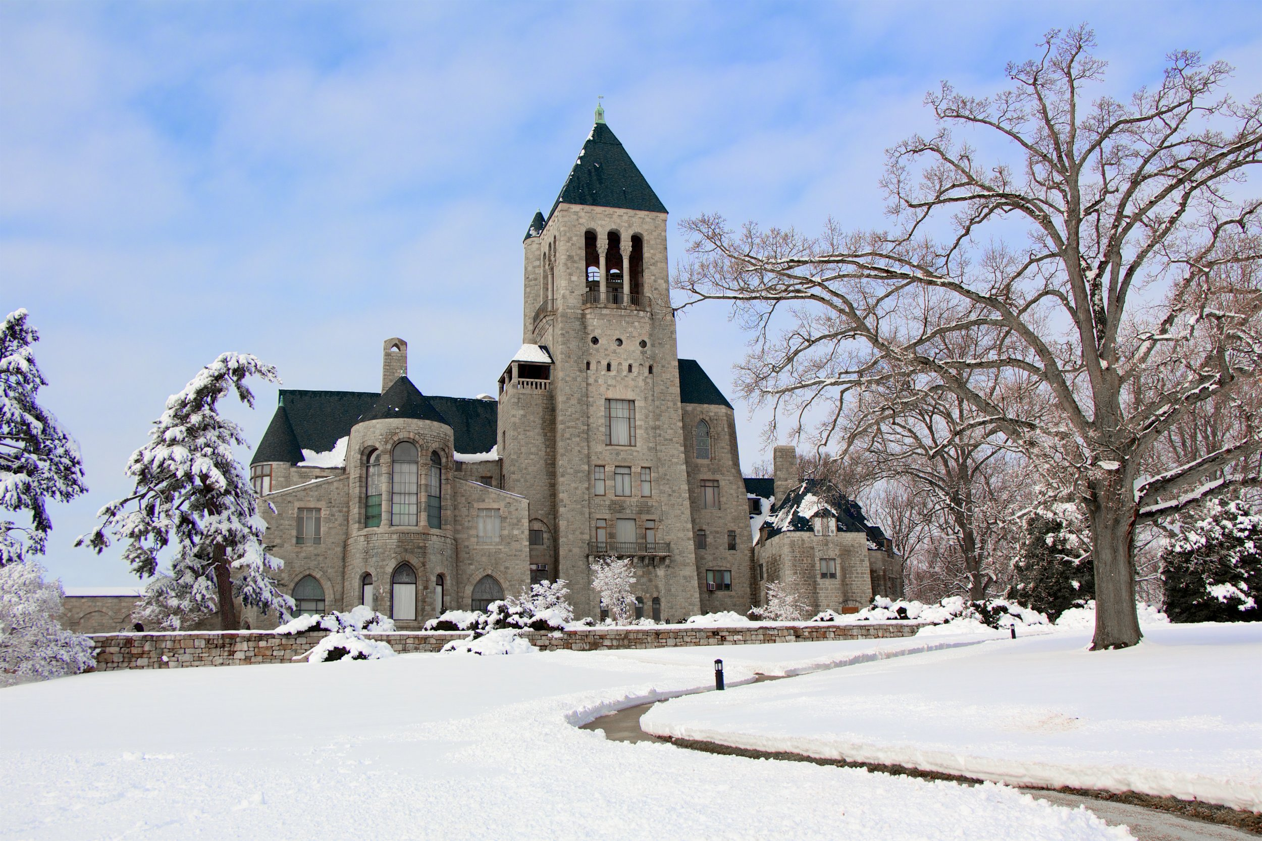 Glencairn Museum in the snow, taken in early 2017